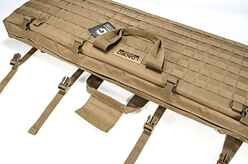 "Loaded Gear Rifle Case 2 Loaded Gear 40"" Rifle Tactical Rifle Gun Case Bag Unfolded to Become a Shooting Mat (Brown)"