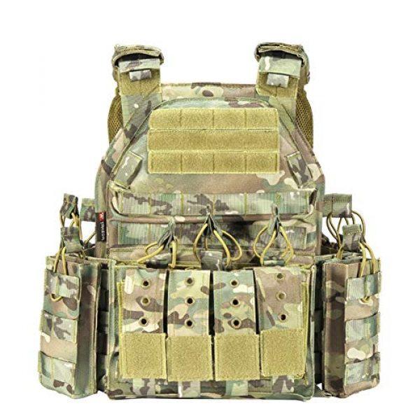 HAOWUTX Airsoft Tactical Vest 1 HAOWUTX Multipurpose Outdoor Tactical Vest Field Sports Tactical Equipment (Color : Upgradedcp)