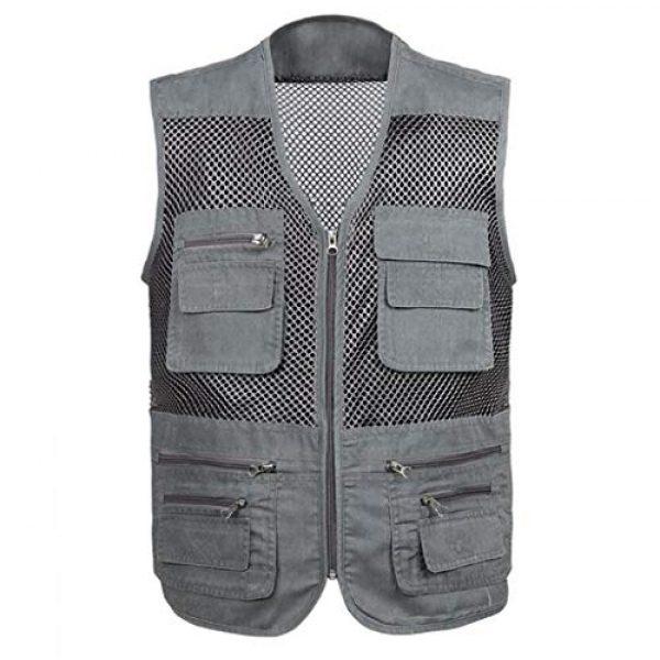 DAFREW Airsoft Tactical Vest 1 DAFREW Mesh Breathable Vest Multi-Function Leisure Fishing Photography Vest Quick-Drying Vest Multi-Pocket Men's Vest (Color : Gray, Size : XL)