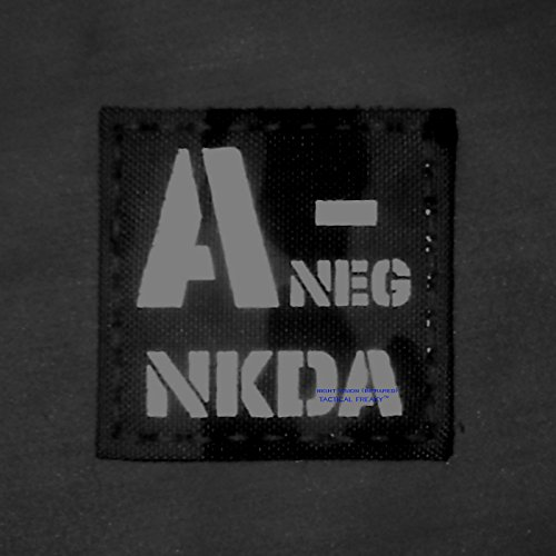 Tactical Freaky Airsoft Morale Patch 2 IR ANEG NKDA A- AOR2 NWU Type III Blood Type 2x2 Infrared Tactical Morale Fastener Patch