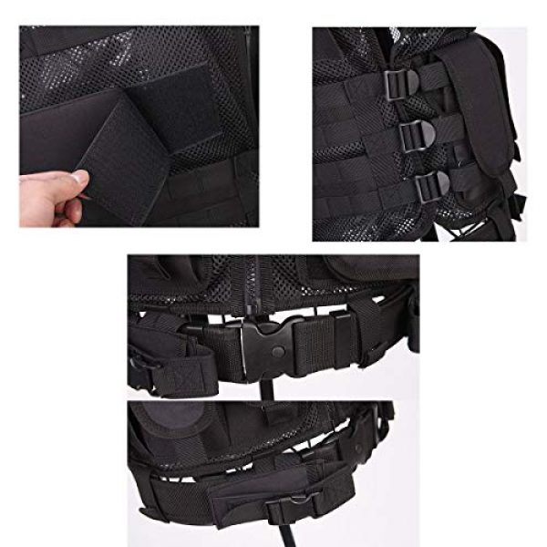 KIDYBELL Airsoft Tactical Vest 7 KIDYBELL Tactical Airsoft Vest for Outdoor Hunting Army Fan Combat Training CS Game 600D encrypted Nylon Fabric