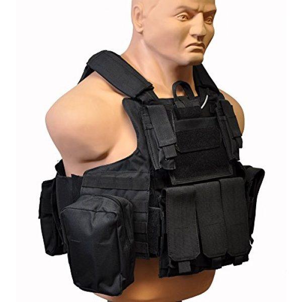 KTW Airsoft Tactical Vest 2 KTW Airsoft Tactical Molle Vest M-XL w/Multiple Pouches (Black)