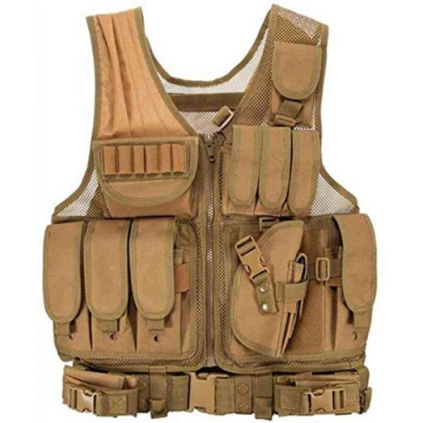 Hunting Explorer Airsoft Tactical Vest 1 600D Polyester Military Equipment air Gun Tactical Vest, Used for Military Combat Training, CS, Paintball Shooting and Other Airsoft Combat Protective Vests.