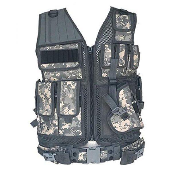 BGJ Airsoft Tactical Vest 4 BGJ Tactical Vest Army Military Combat Camouflage Vests Tactical Airsoft Molle Adjustable Vest CS Detachable Clothing Colete Tatico