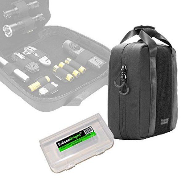 Nitecore Battery Case 2 Nitecore NTC10 Tactical Gear Carry case with EdisonBright BBX3 Battery case