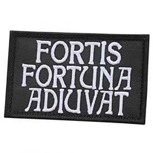 LEGEEON Airsoft Morale Patch 1 LEGEEON Fortis Fortuna Adiuvat 2x3.25 John Wick Morale Tactical Military Hook&Loop Patch