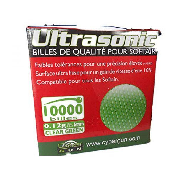 Ultrasonic Airsoft BB 2 Ultrasonic Premuim Grade Airsoft BBs, Clear Green 0.12g/6mm, 10,000 Count