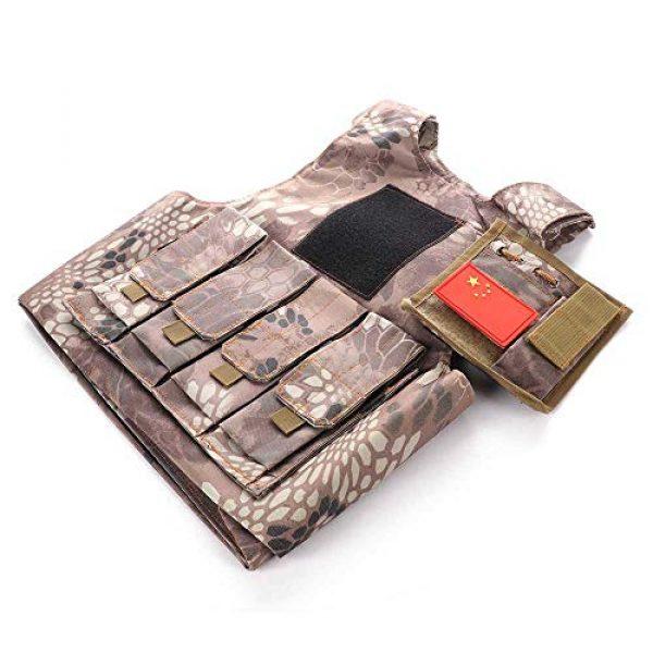 "Nuxn Airsoft Tactical Vest 4 Nuxn Kids Tactical Vest Black Lightweight Children Field Combat Training Protective Vest Adjustable Shooting Hunting Molle Clothes'""Children Camo Vest Jacket Waistcoat Camouflage Vest"