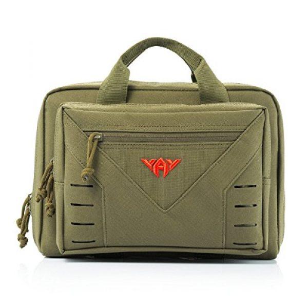 vAv YAKEDA Pistol Case 1 vAv YAKEDA Tactical Pistol Case Soft Range Bags for Handguns Additional Magazine Storage Slots 10L (Green)