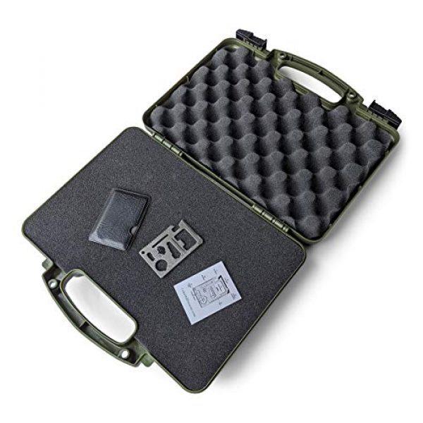 Cedar Mill Fine Firearms Pistol Case 2 Cedar Mill Fine Firearms -Worlds Smallest Micro Pistol Cleaning Kit for Handguns | Free Super-X Tool Bundle with Hard Gun Case Pistol Case (Green) |TSA Approved with Pick and Pluck Foam (2 Items)