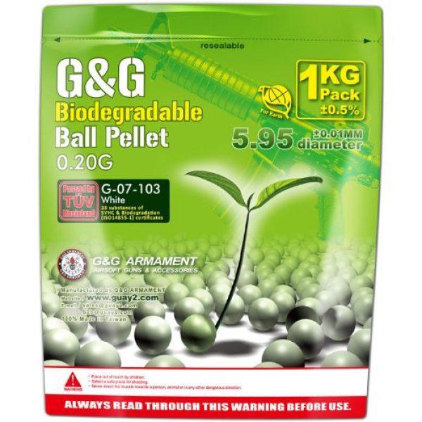 G&G Airsoft BB 1 G&G BB's Bio .20g 1kg-White