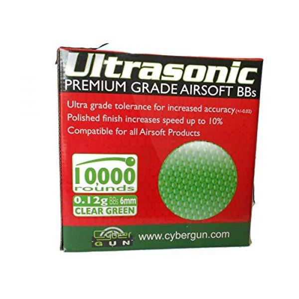 Ultrasonic Airsoft BB 1 Ultrasonic Premuim Grade Airsoft BBs, Clear Green 0.12g/6mm, 10,000 Count