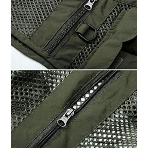 DAFREW Airsoft Tactical Vest 6 DAFREW Men's Vest Fashion Casual Vest Outdoor Photography Fishing Vest Quick Dry Vest (Color : Black, Size : M)