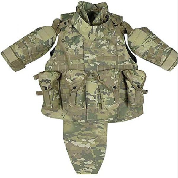 BGJ Airsoft Tactical Vest 3 Outdoors Tactical Paintball Airsoft Military OTV Body Armor Durable Carrier Combat Vest Men Soft Cushion Pads Full Adjustable Wa