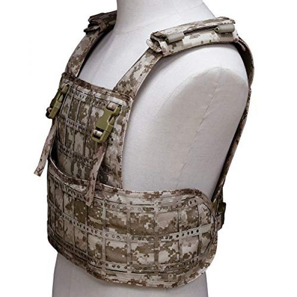 BGJ Airsoft Tactical Vest 6 BGJ Airsoft Vest Tactical Vest Hunting Protection Military Molle Vest Adjustable Army Armor
