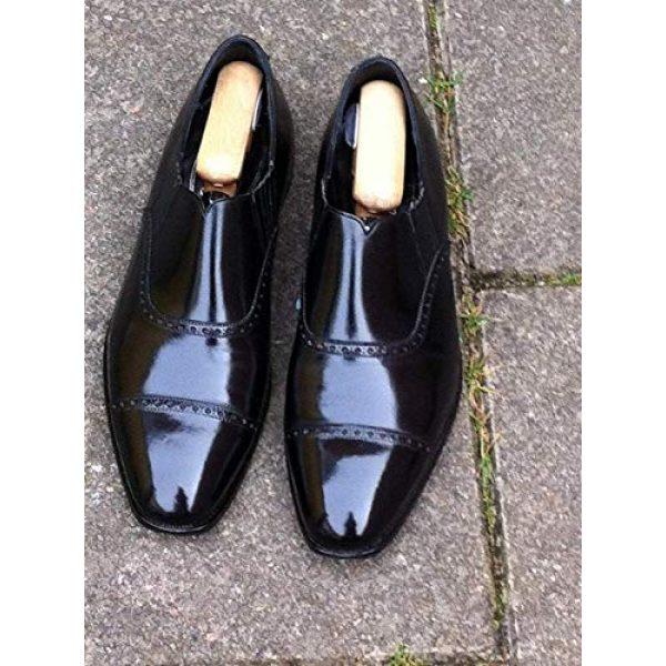Leather Luster Combat Boot Polish 6 Hi Gloss Brilliant Patent Leather Finish 4 Ounce - Black