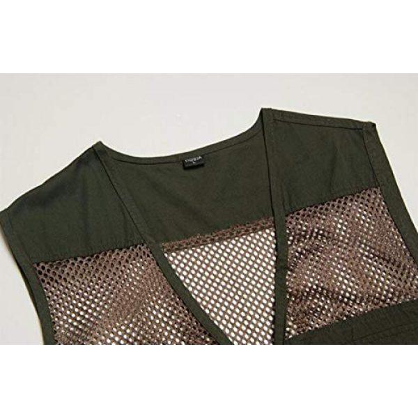 DAFREW Airsoft Tactical Vest 4 DAFREW Men's Vest Outdoor Leisure Fishing Vest Multi-Pocket Vest Breathable mesh Vest (Color : Beige, Size : XL)