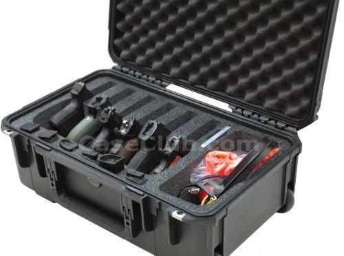 Case Club Pistol Case 3 Case Club Waterproof 6 Pistol Case with Accessory Pocket & Silica Gel