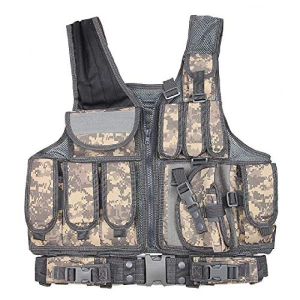 BGJ Airsoft Tactical Vest 1 Tactical Vest Adjustable Molle Swat Army Military Combat Assault Body Armor Hunting Fishing Shooting Airsoft Vest