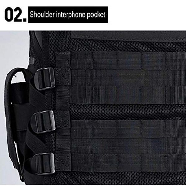 BGJ Airsoft Tactical Vest 2 Outdoor Multi-Pocket Swat Army CS Hunting Vest for Hunting Tactical Body Armor Games Paintball Airsoft Vest Military Equipment