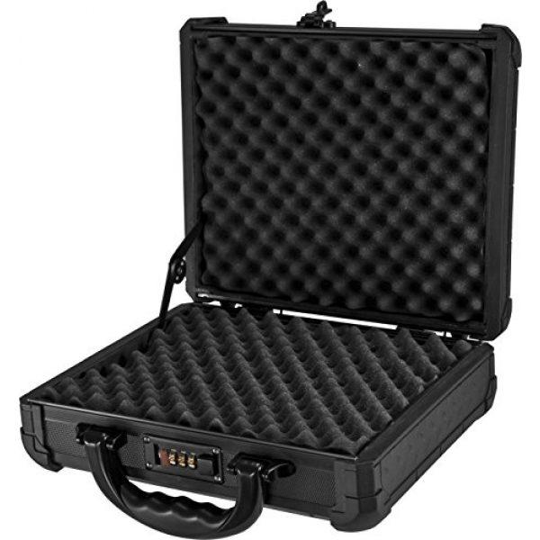 BARSKA Pistol Case 2 Loaded Gear AX-50 Hard Case, Medium, Black by BARSKA
