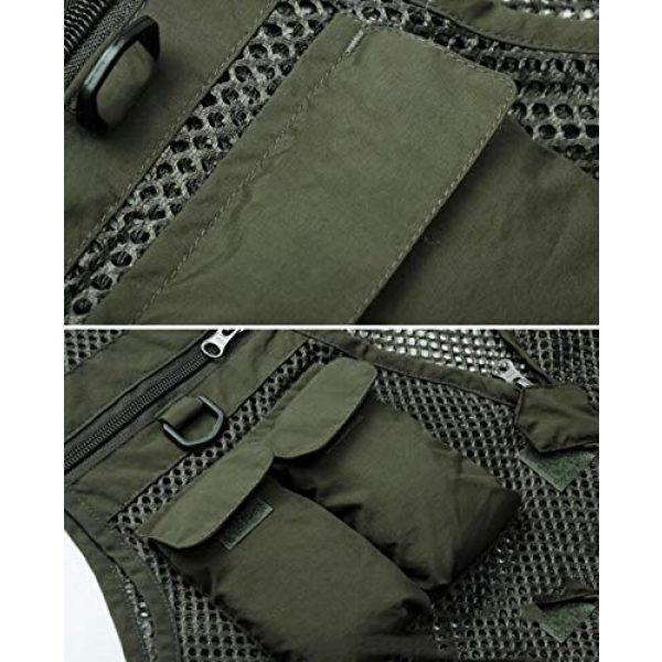 DAFREW Airsoft Tactical Vest 5 DAFREW Men's Vest Fashion Casual Vest Outdoor Photography Fishing Vest Quick Dry Vest (Color : Black, Size : M)