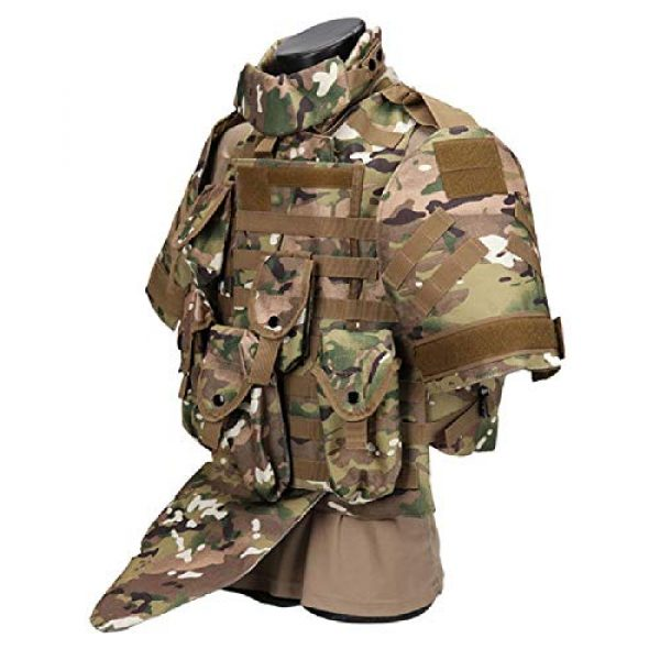 BGJ Airsoft Tactical Vest 2 Tactics Camouflage Vest Phantom Protective Modular Vest Body Armor Airsoft Wargame Hunting Outdoor Sports Activities