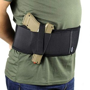 PG  1 PG Comfortable Belly Band Holster for Concealed Carry w/Retention Strap and Mag Pouch Fits Subcompact Compact Medium Large Handgun