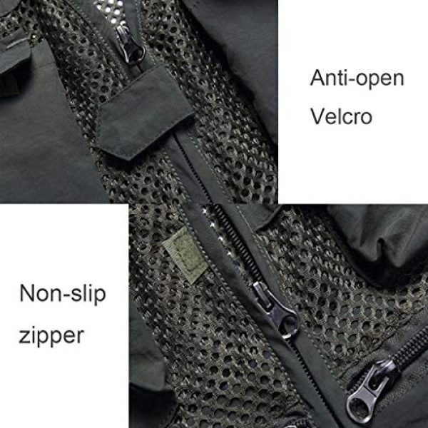ZHYLOVE Airsoft Tactical Vest 5 ZHYLOVE Multifunction Mens Fishing Vest Jacket Mesh Vest Sleeveless Multi-Pocketed Thin Section Outdoor Breathable Hollow Out Thin for Camping Photography Fishing Hunting Waistcoat