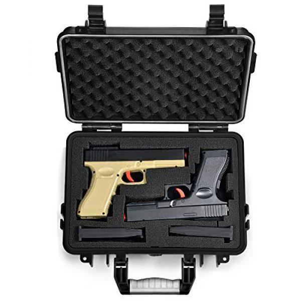 Lekufee Pistol Case 1 Lekufee Waterproof Hard Pistol Case for 2 Handguns and More Accessories