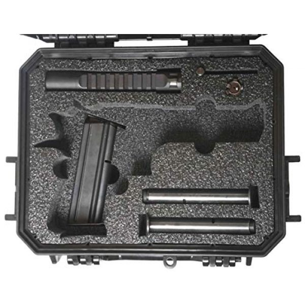 Case Club Pistol Case 3 Case Club Desert Eagle Pre-Cut Waterproof Case with Storage for 4 Extra Magazines & 1 Extra Barrel