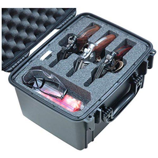 Case Club Pistol Case 1 Case Club Waterproof 3 Revolver/Semi-Auto Pre-Cut Case with Silica Gel to Help Prevent Gun Rust