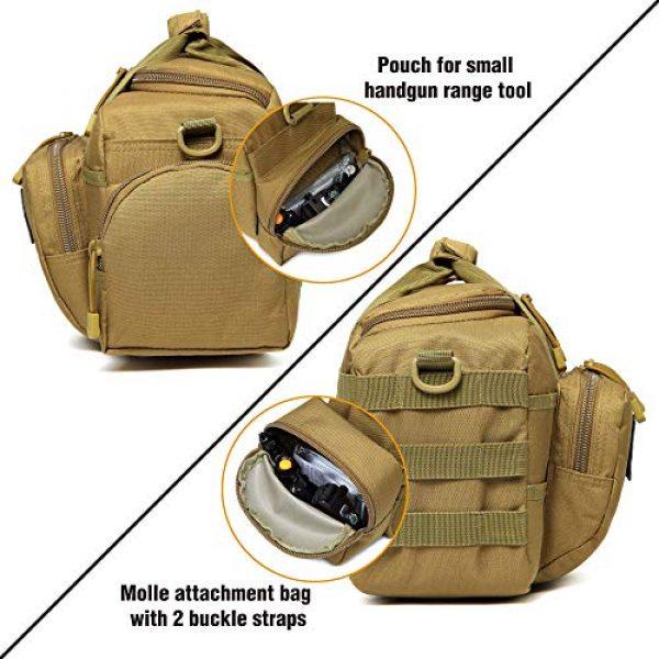 DBTAC Pistol Case 7 DBTAC Range Bag Small for 2X Pistol (Tan) + Pistol Handbag XS for 1~2 Pistol (Tan), Lockable Zipper, Durable Material, Compact Design