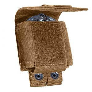 Tac Shield Pistol Case 1 Tac Shield T4055CY Single Cuff Case Belt Pouch, Coyote, Coyote