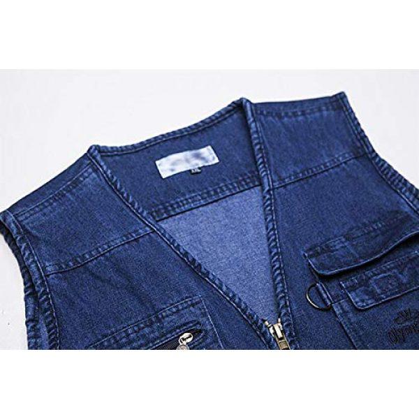 DAFREW Airsoft Tactical Vest 4 Denim Sleeveless Shirt Men's Casual Vest Fashion Photography Vest Fishing Vest (Color : Denim Color, Size : XL)