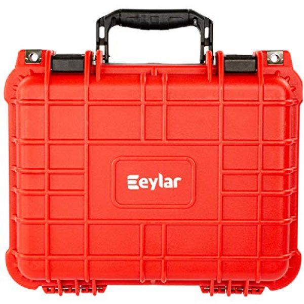 Eylar Pistol Case 3 Eylar Tactical Hard Gun Case Water & Shock Proof with Foam 13.37 inch 11.62 inch 6 inch Red