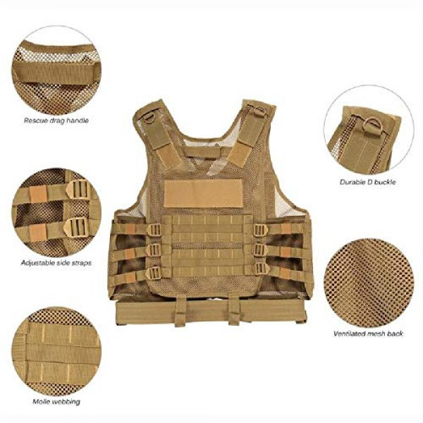 BGJ Airsoft Tactical Vest 6 BGJ Military Equipment Tactical Vest Police Training Combat Armor Gear Army Paintball Hunting Airsoft Vest Molle Protective Vests