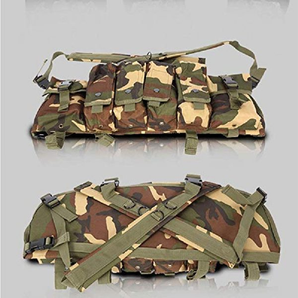 BGJ Airsoft Tactical Vest 4 BGJ Tactical Vest Airsoft Ammo Chest Rig AK 47 Magazine Carrier Camouflage Combat Vest Tactical Military Army Equipment