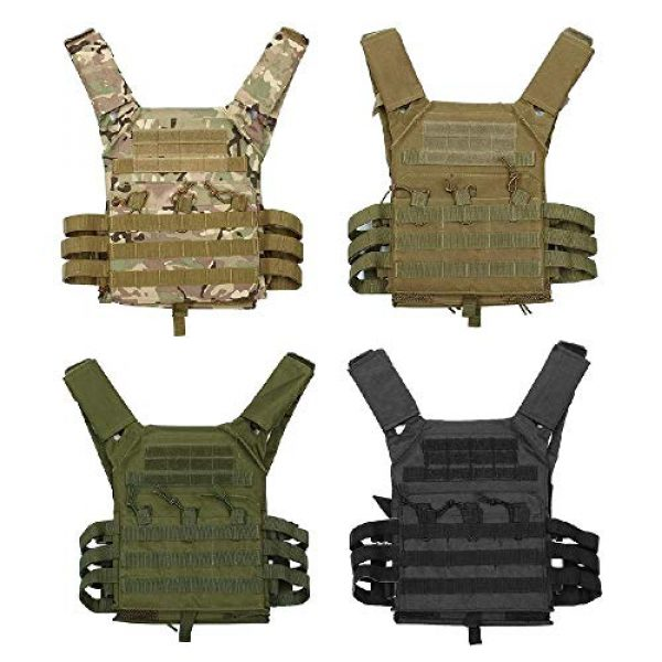 BGJ Airsoft Tactical Vest 6 Hunting Tactical Body Armor JPC Molle Plate Carrier Vest Outdoor CS Game Paintball Airsoft Vest Military Equipment