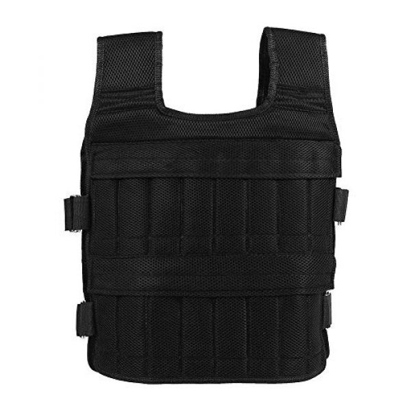 Aiggend Airsoft Tactical Vest 5 Tactical Vests, 50KG Weighted Vest Strength Training Jacket for Workout Fitness