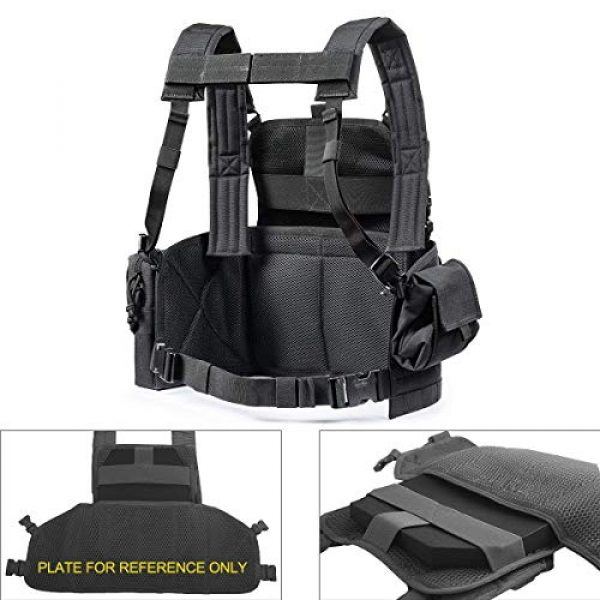GXYWAN Airsoft Tactical Vest 5 GXYWAN Tactical CS Field Vest Paintball Training Air Gun Super Light Breathable Combat Adjustable Vest