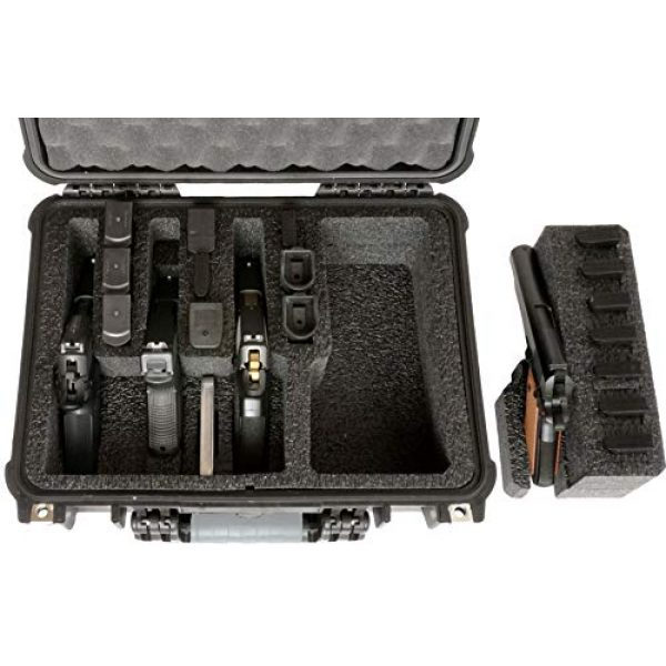 Case Club Pistol Case 3 Case Club 4 Pistol and 16 Magazine Pre-Cut Heavy Duty Waterproof Case with Included Silica Gel Canister to Help Prevent Gun Rust (Upgraded Gen-2)