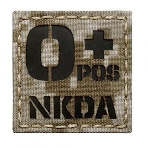 Tactical Freaky  1 Digital Desert AOR1 Infrared IR OPOS NKDA O+ Blood Type 2x2 Tactical Morale Hook-and-Loop Patch