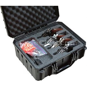 Case Club Pistol Case 1 Case Club 4 Revolver Waterproof Cases with Silica Gel to Help Prevent Gun Rust