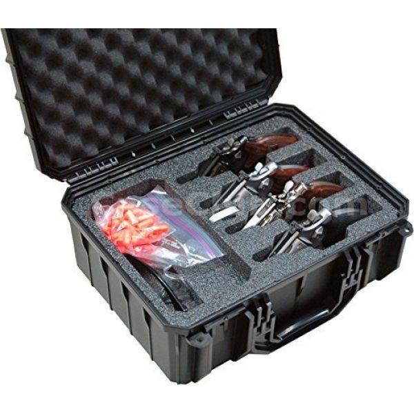 Case Club Pistol Case 1 Case Club 4 Revolver Waterproof Cases with Silica Gel to Help Prevent Gun Rust
