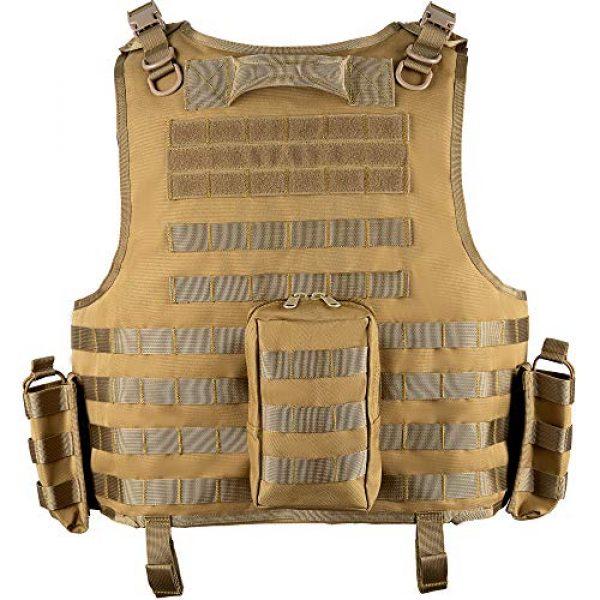 MGFLASHFORCE Airsoft Tactical Vest 2 MGFLASHFORCE Tactical Airsoft Vest Adjustable Modular Paintball Vest