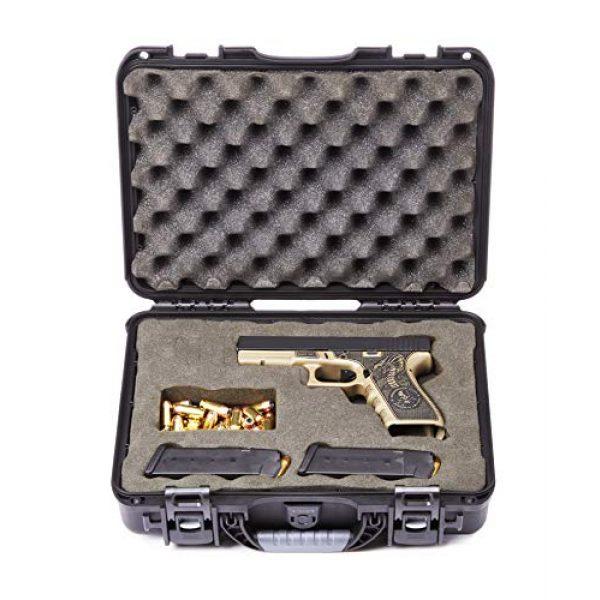 Levy's Outdoor Pistol Case 5 Levy's Outdoor Universal Waterproof and Dustproof Single Pistol Hard Case; Adjustable Foam Interior (GU-1309-03-UNV-GUN)