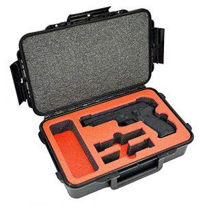 MY CASE BUILDER Pistol Case 1 1 Pistol 2 Magazine + Accessory Medium Duty Lightweight Waterproof Single Gun Sport Case - Doro Cases with Custom Mycasebuilder Foam Insert
