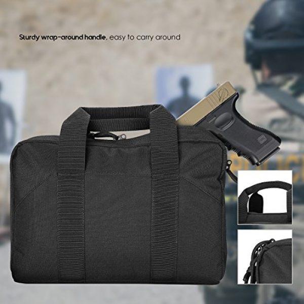 ProCase Pistol Case 7 ProCase Tactical Pistol Case, Shooting Range Pistol Bag Handgun Magazine Pouch Shooting Range Duffle Bag for Hunting or Shooting Range Sport