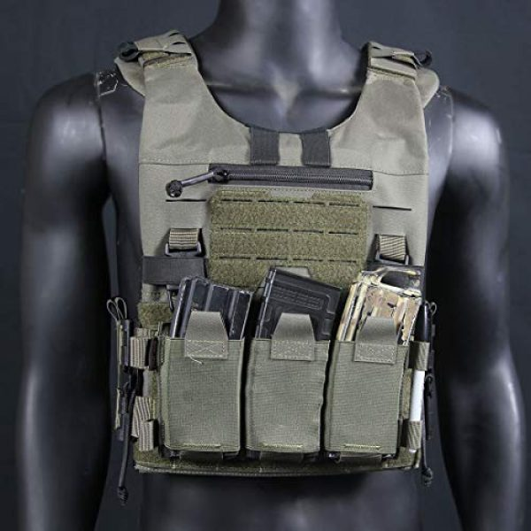 YIFAN Airsoft Tactical Vest 2 YIFAN Tactical Shooting Range Training Vest for Men Quick Release, 500D Nylon Outdoor Vest with Pockets for Combat Training, Field Operations, Hunting, Travel